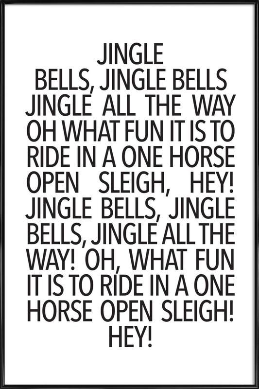 Jingle Bells -Bild mit Kunststoffrahmen