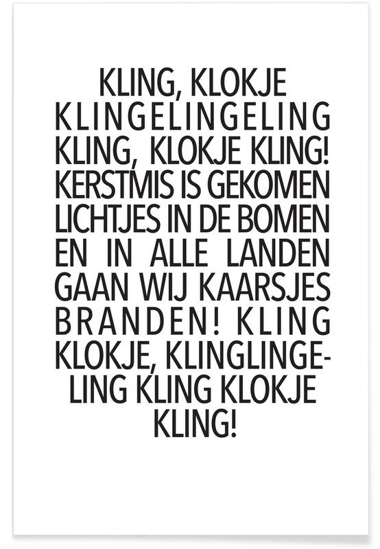 Kling, Klokje Poster