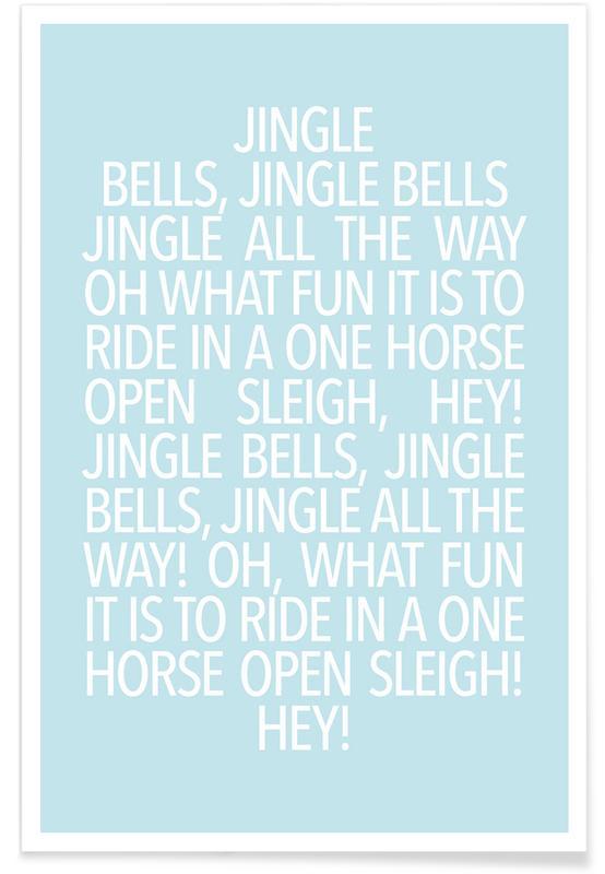 Jul, Lyrik, Jingle Bells Blue Plakat