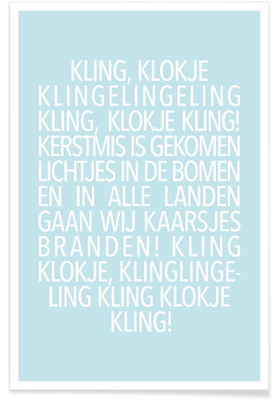 Kling, Klokje Blue -Poster