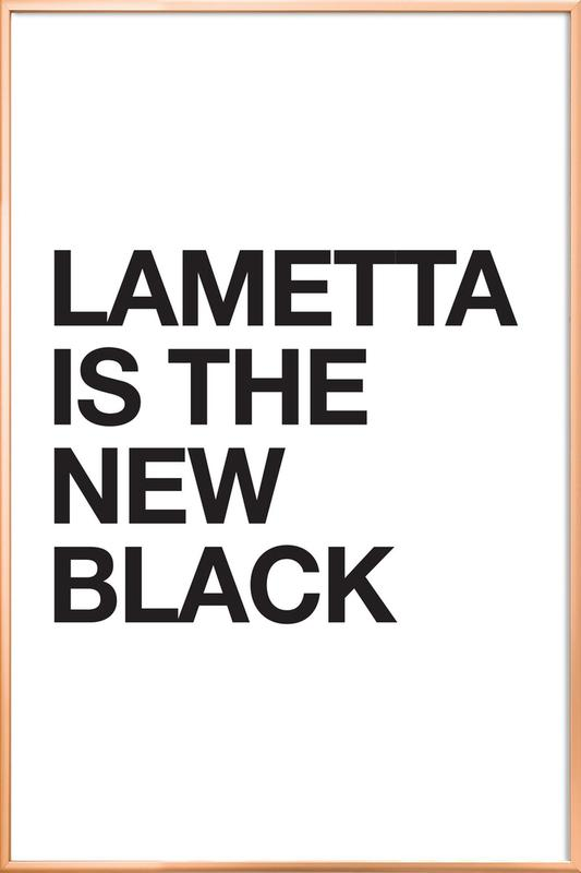 Lametta Is The New Black Poster in Aluminium Frame