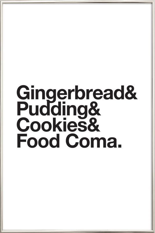 Food Coma Poster i aluminiumram