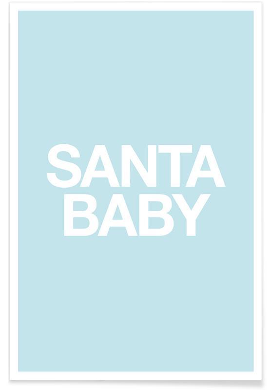 Natale, Santa Baby Blue poster