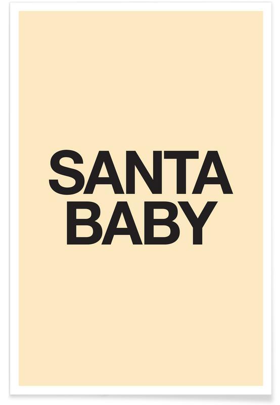 Santa Baby Yellow Poster