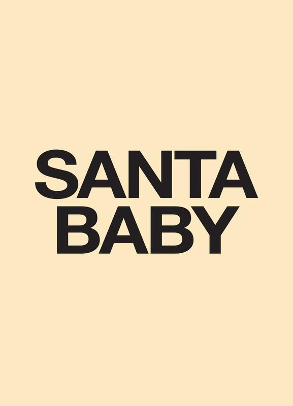 Santa Baby Yellow Canvas Print