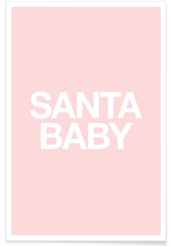 Jul, Santa Baby Pink Plakat