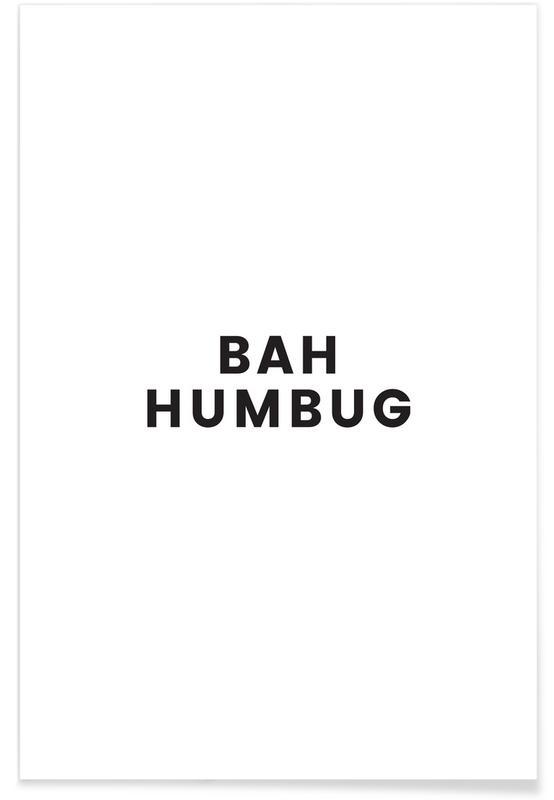 Bianco & nero, Natale, Bah Humbug poster