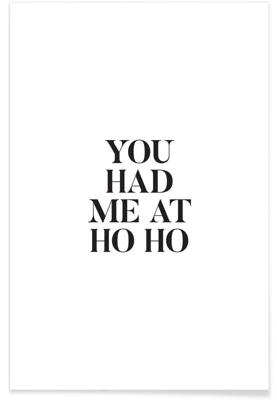 Sort & hvidt, Jul, Ho Ho Plakat