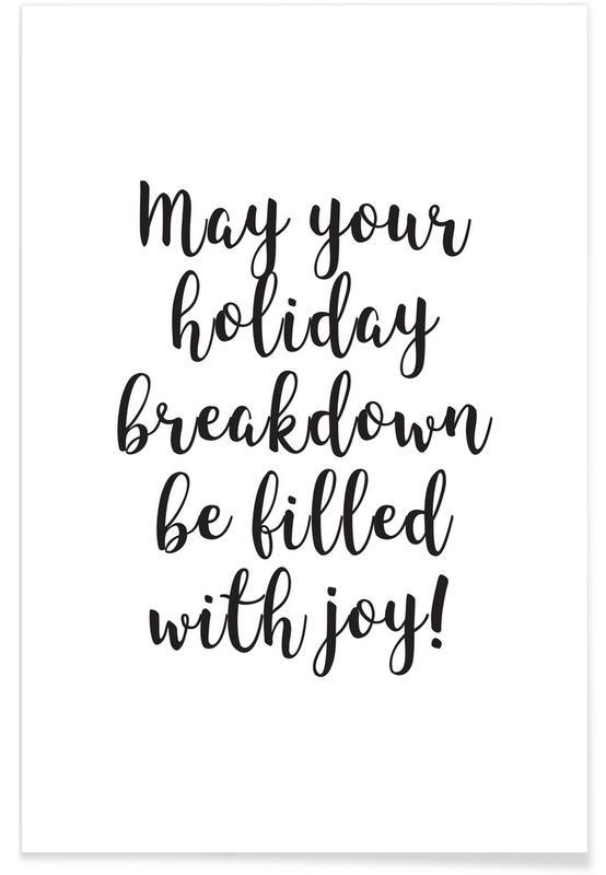 Sort & hvidt, Jul, Holiday Breakdown Plakat