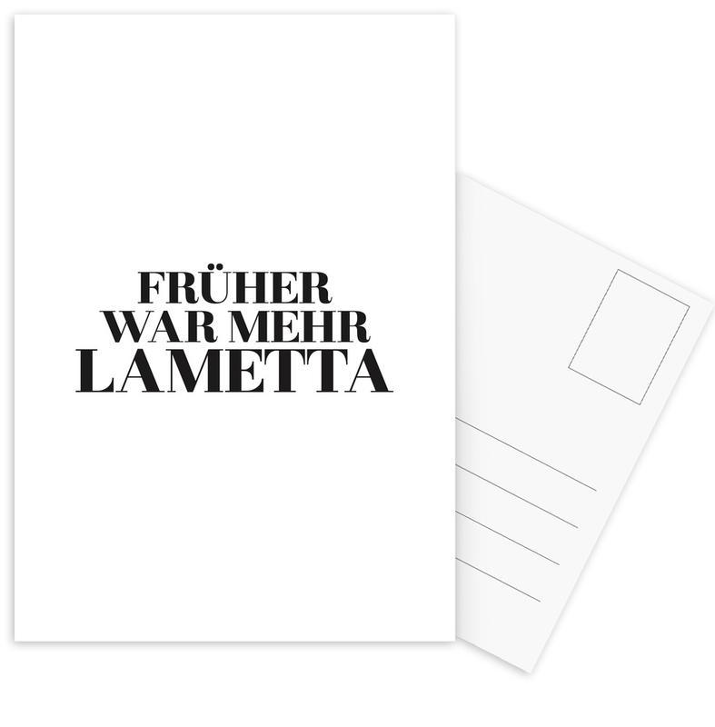 Früher -Postkartenset