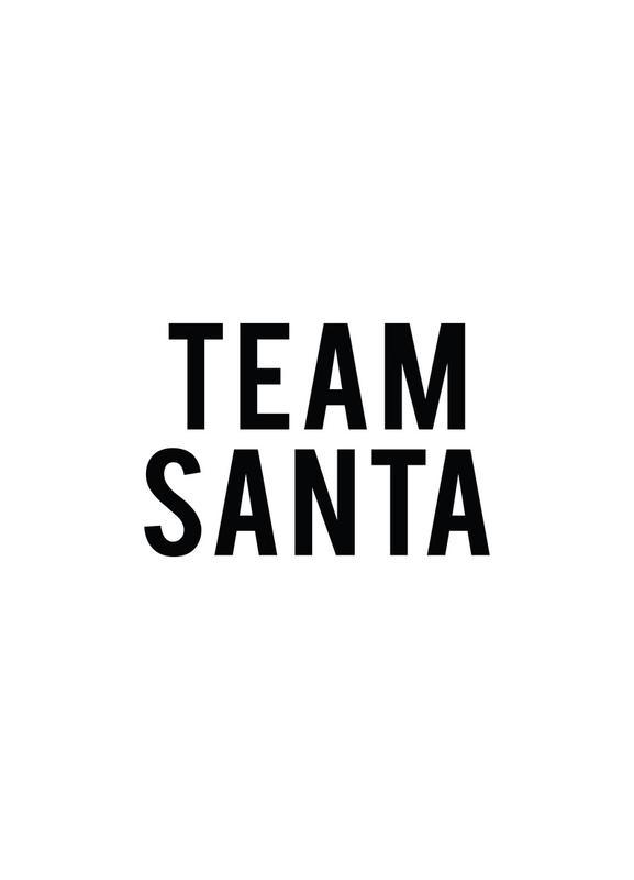 Team Santa canvas doek