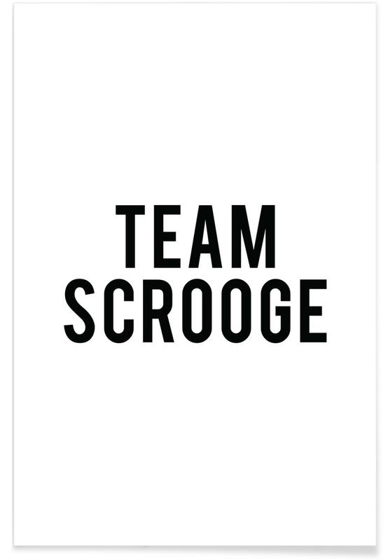 Sort & hvidt, Jul, Team Scrooge Plakat