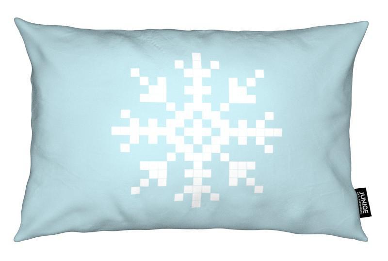 Pixel Snowflake Blue