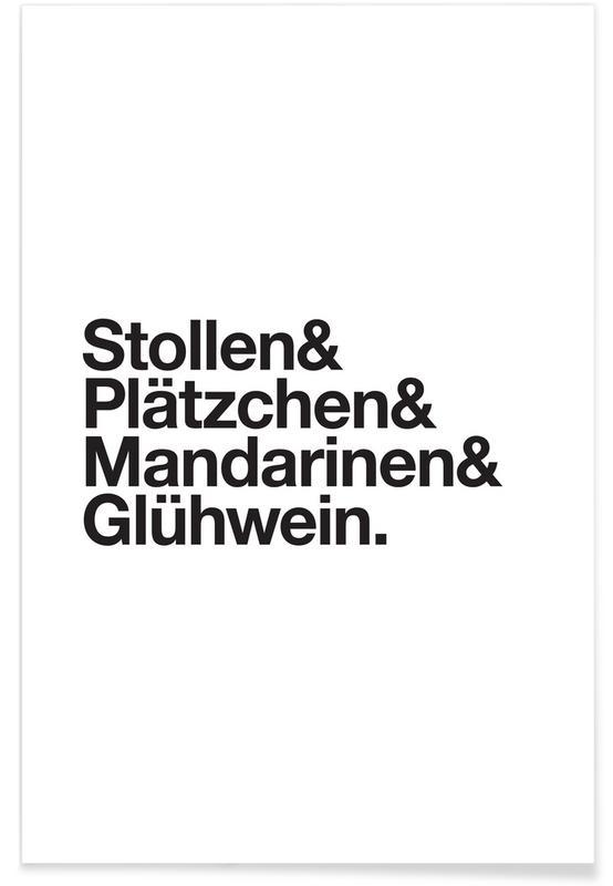 Stollen & Glühwein Poster