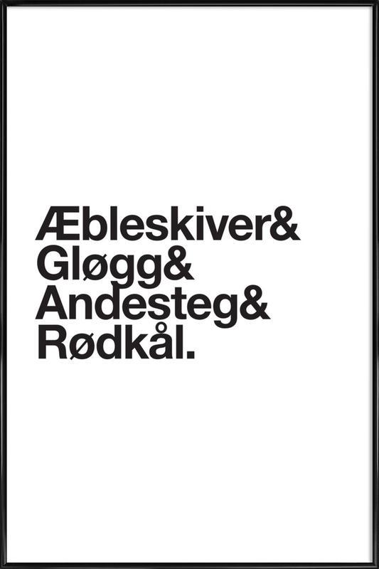 Æbleskiver & Rødkål Poster i standardram