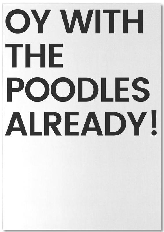 Poodles -Notizblock