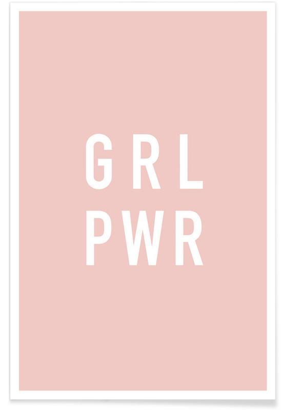 Motiverende, Citater & sloganer, GRL Plakat