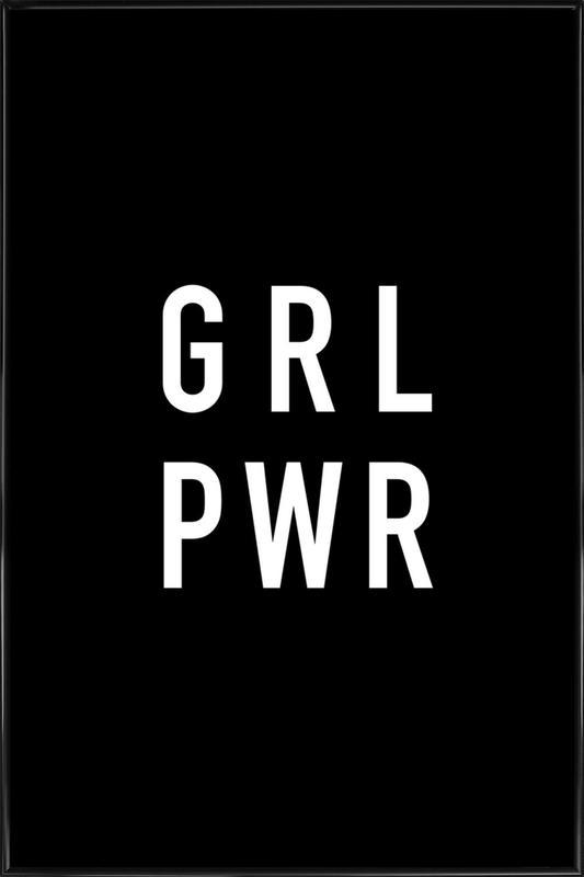 GRL Black Framed Poster
