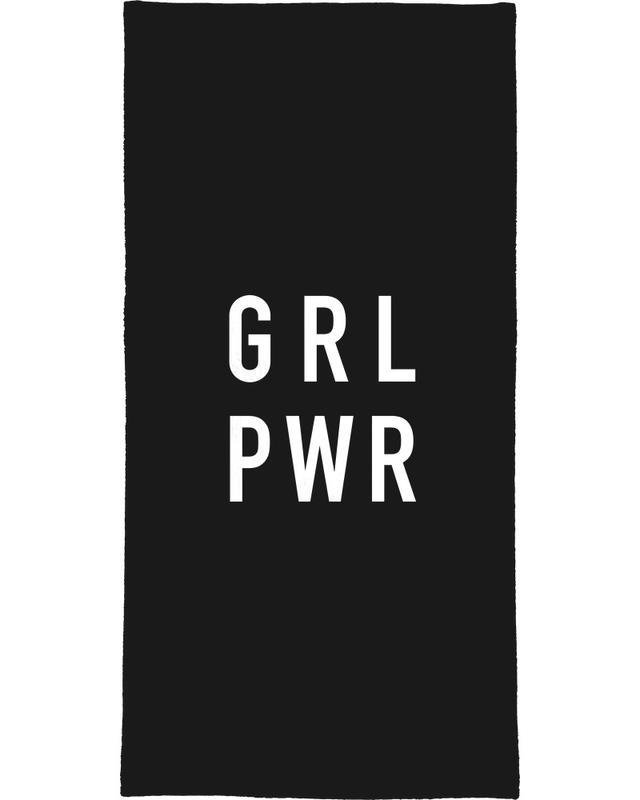Schwarz & Weiß, GRL Black -Handtuch