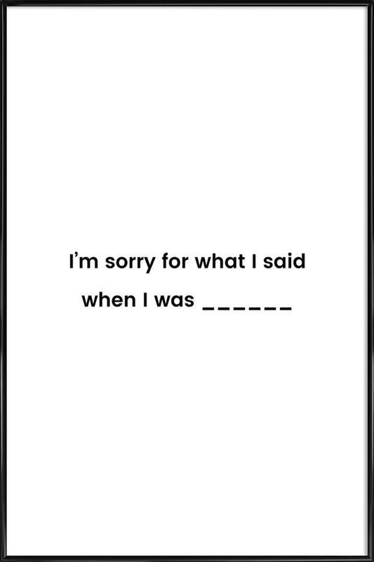 Fill in the Blank Poster i standardram