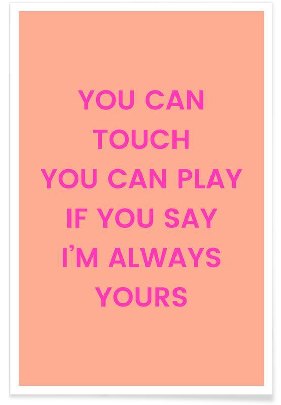 Paroles de chansons, Anniversaires de mariage et amour, Saint-Valentin, I'm Always Yours affiche