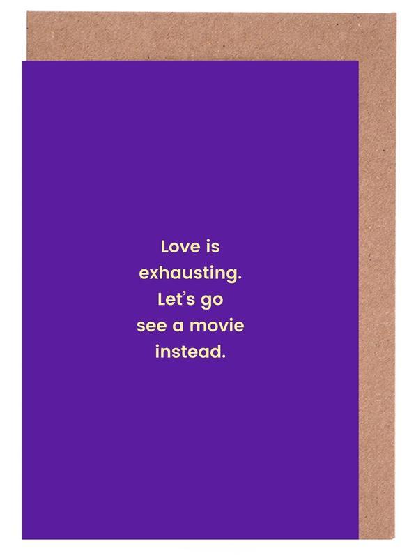 Liebe & Jahrestage, Valentinstag, Romance vs. Reality -Grußkarten-Set