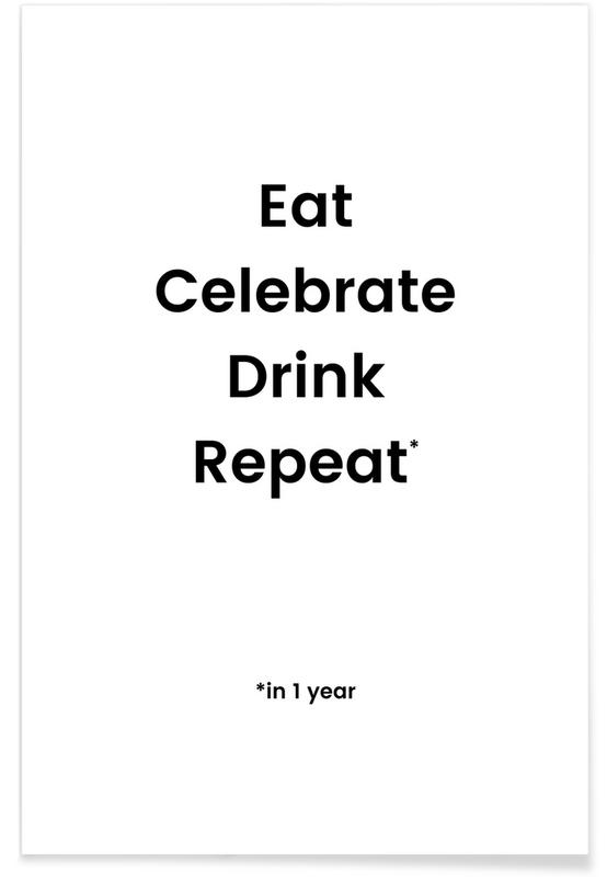 Cumpleaños, Blanco y negro, Celebration Rotation póster