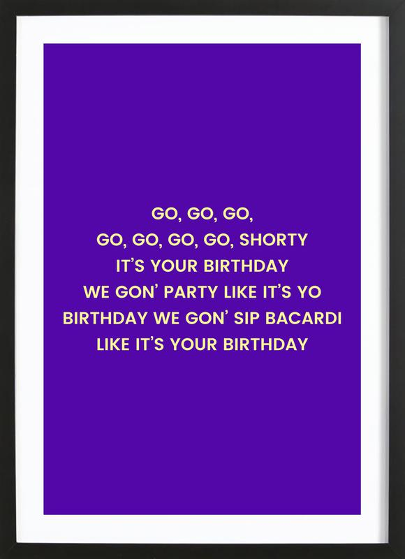 Go Shorty Poster i träram