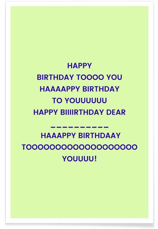 Fødselsdage, Lyrik, Happy Birthday to You Plakat