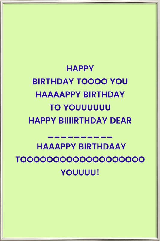 Happy Birthday to You Poster i aluminiumram
