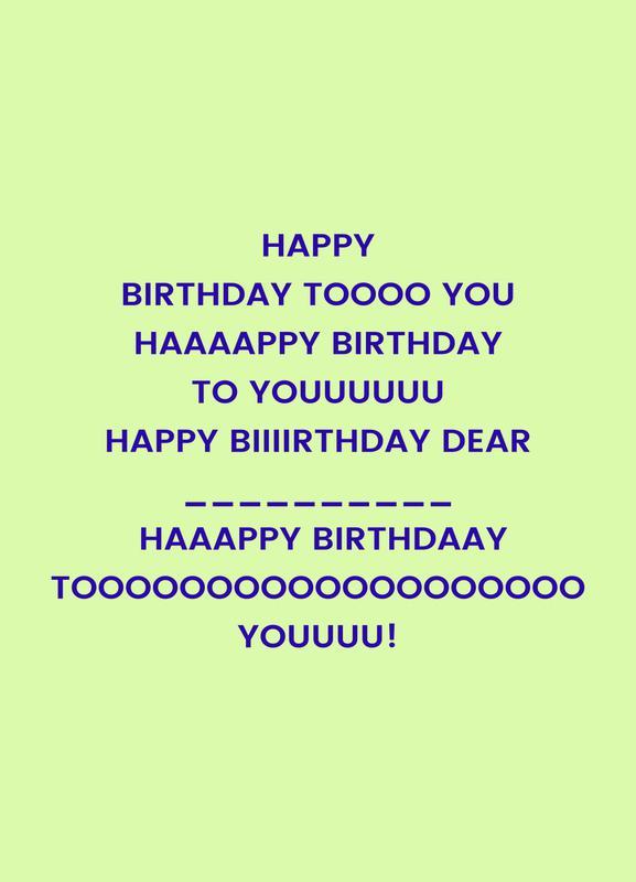 Happy Birthday to You Canvastavla