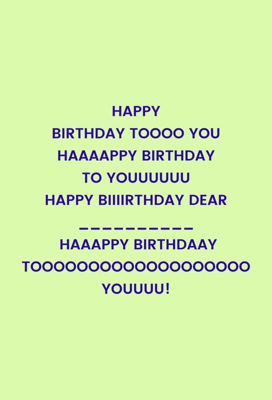 Happy Birthday to You Akrylglastavla