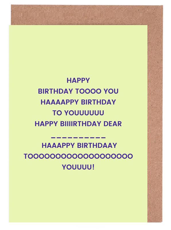 Happy Birthday to You Greeting Card Set