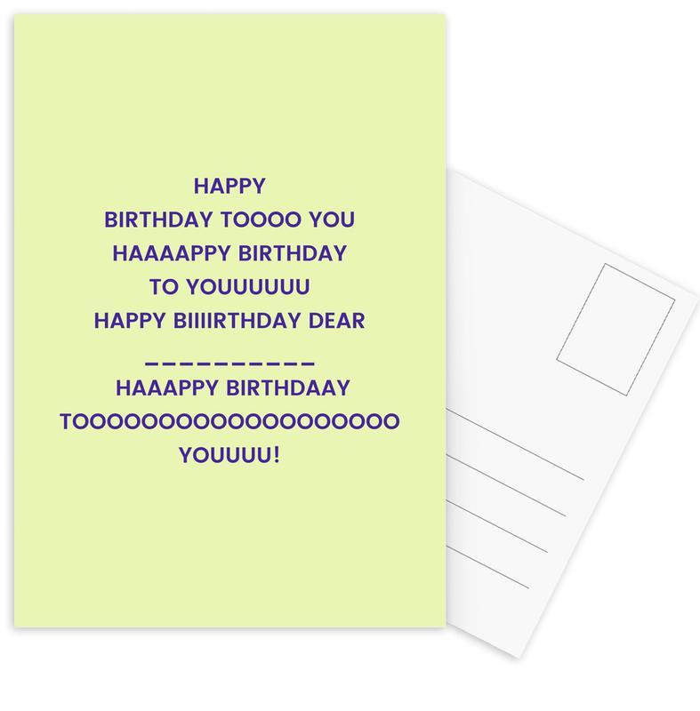 Happy Birthday to You Postcard Set