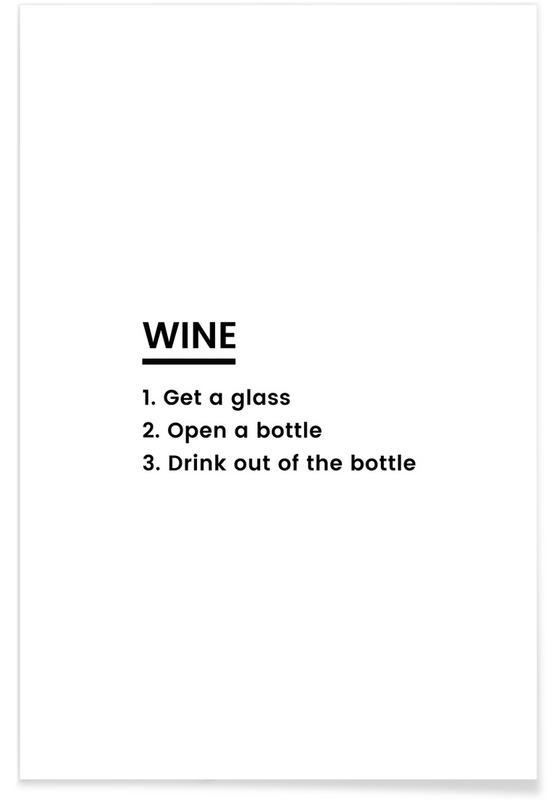 Fødselsdage, Lykønskninger, Wine Recipe Plakat