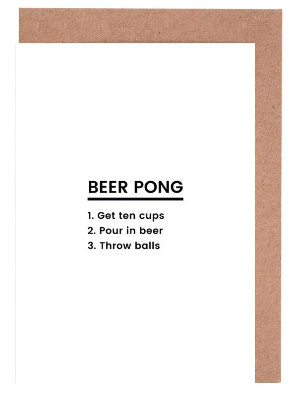 Birthdays, Congratulations, Beer Pong Recipe Greeting Card Set