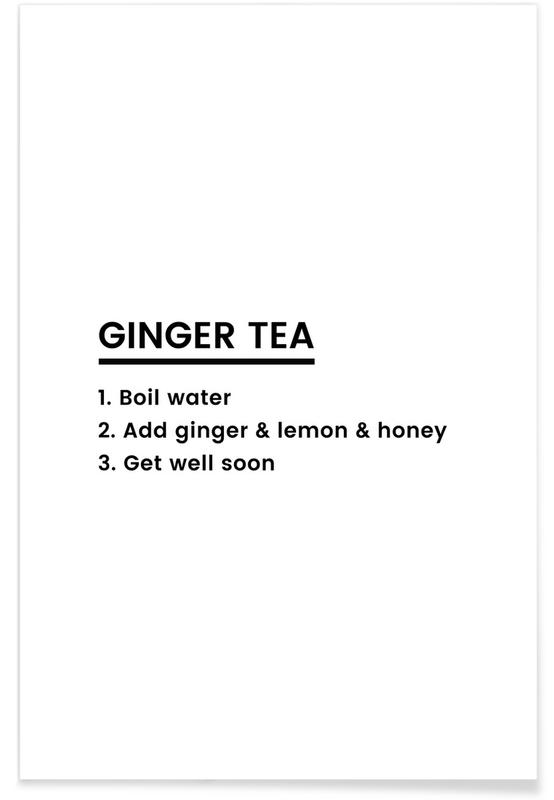 Ginger Tea Recipe Poster