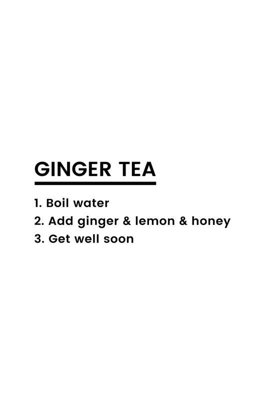 Ginger Tea Recipe Aluminiumtavla