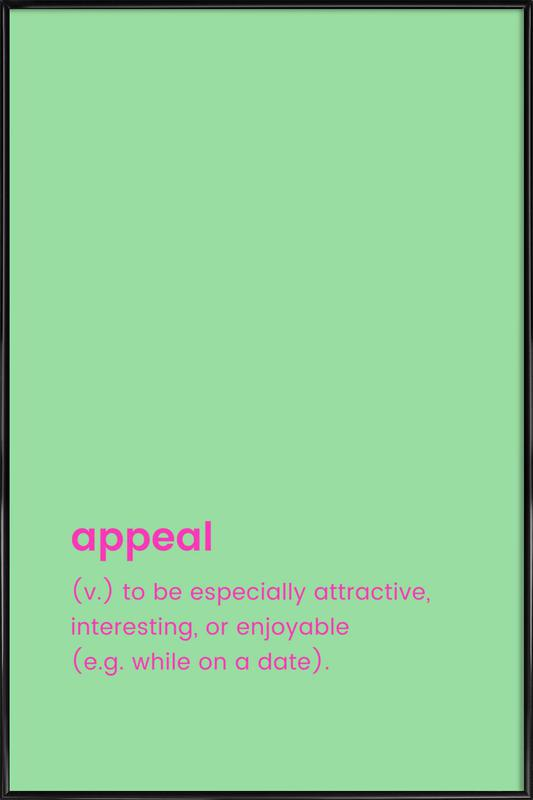 Appeal Framed Poster