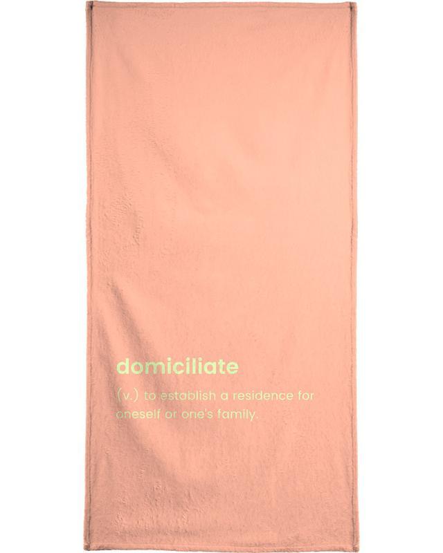 Umzug, Domiciliate -Handtuch