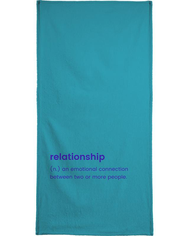 Relationship Beach Towel