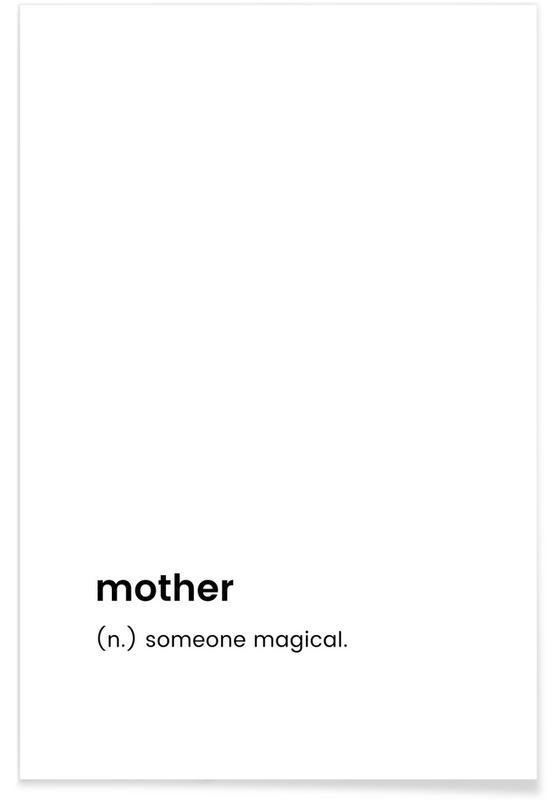 Sort & hvidt, Mors dag, Mother Plakat