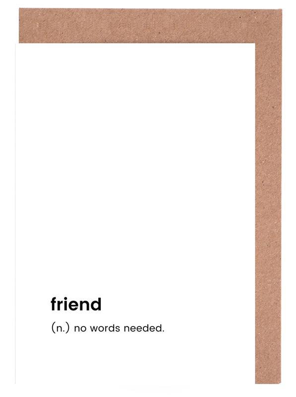 Schwarz & Weiß, Friend -Grußkarten-Set