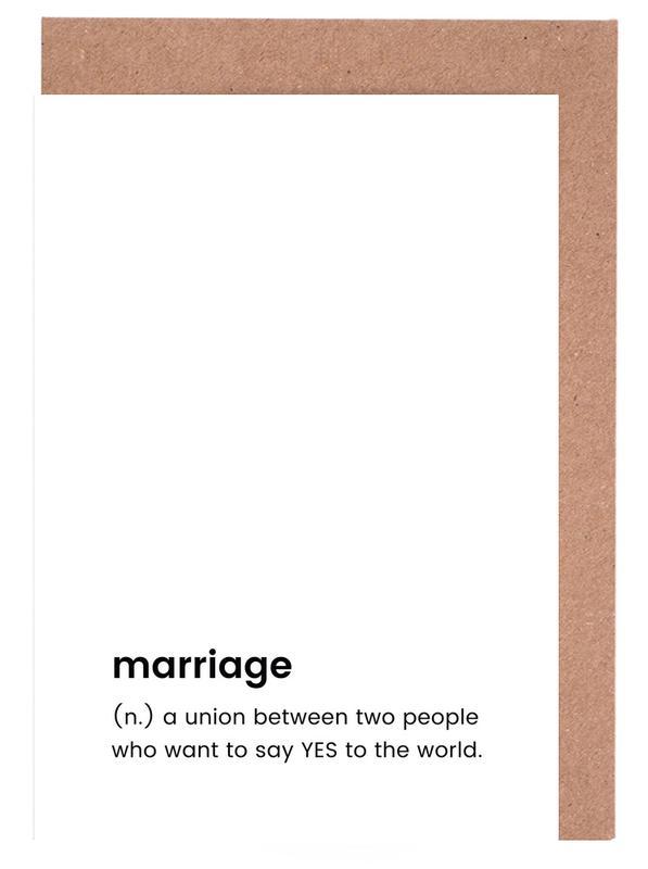 Marriage -Grußkarten-Set