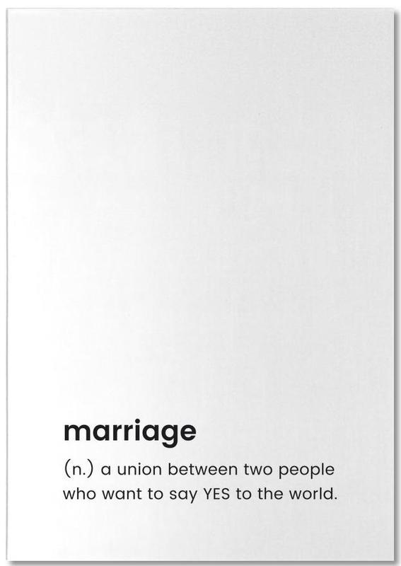 Marriage -Notizblock