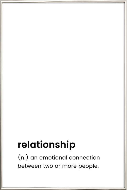 Relationship 2 Poster i aluminiumram