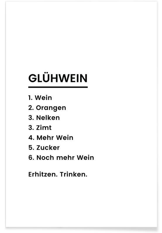 Glühwein Recipe Poster