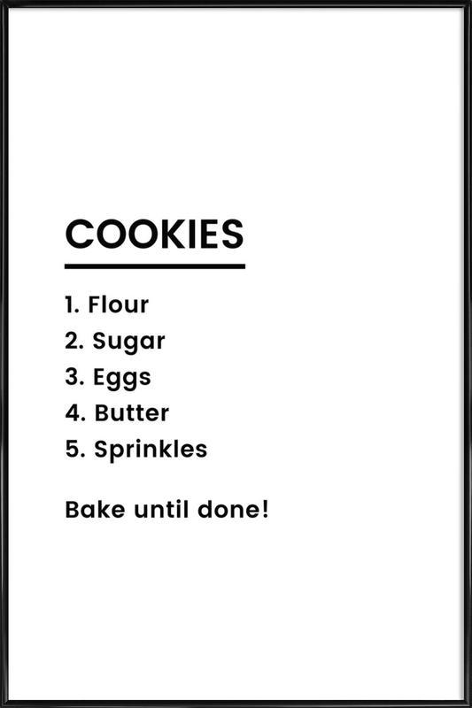 Cookie Recipe Poster i standardram