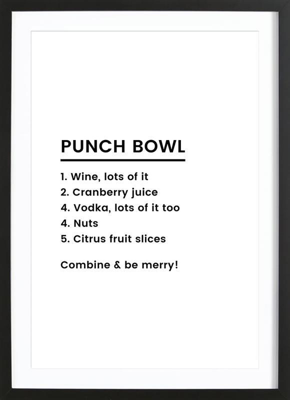 Punch Recipe stampa con cornice