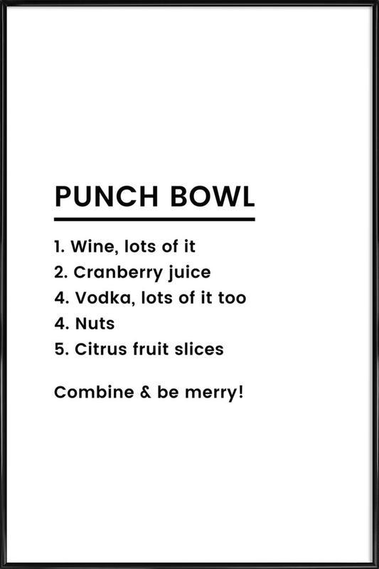 Punch Recipe affiche encadrée